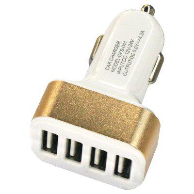 4USB 12 - 24V 4.2A Car Charger Mobile Fast Charge