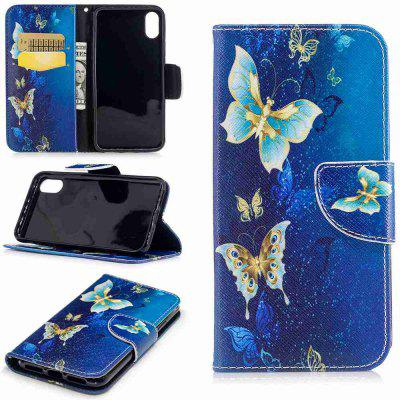 Buy COLORMIX Yellow Butterfly Painted Pu Phone Case for Iphone 8 for $4.44 in GearBest store