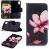 Lotus Painted Pu Phone Case for iPhone X - COLORMIX