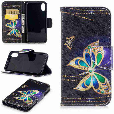 Buy COLORMIX Big Butterfly Pu Phone Case for Iphone 8 for $4.61 in GearBest store