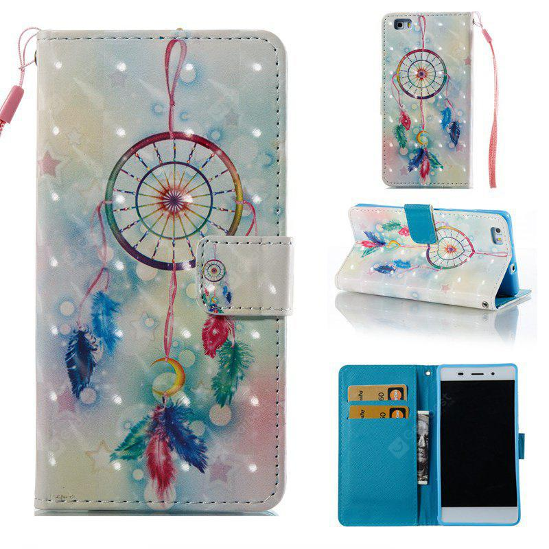 Feather Wind Chimes 3D Painted Pu Phone Case for Huawei P8 Lite