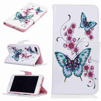 Buy COLORMIX Peach Butterfly Pu Phone Case for iPhone 6/6S for $4.55 in GearBest store