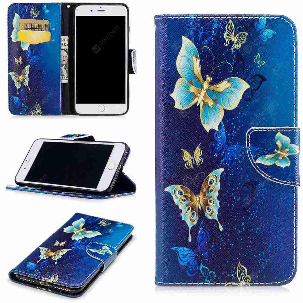 Golden Butterfly Painted Pu Phone Case for iPhone 6S Plus/6 Plus