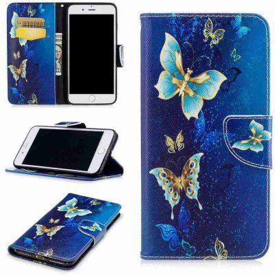 Buy COLORMIX Yellow Butterfly Painted Pu Phone Case for iPhone 6S Plus/6 Plus for $4.82 in GearBest store