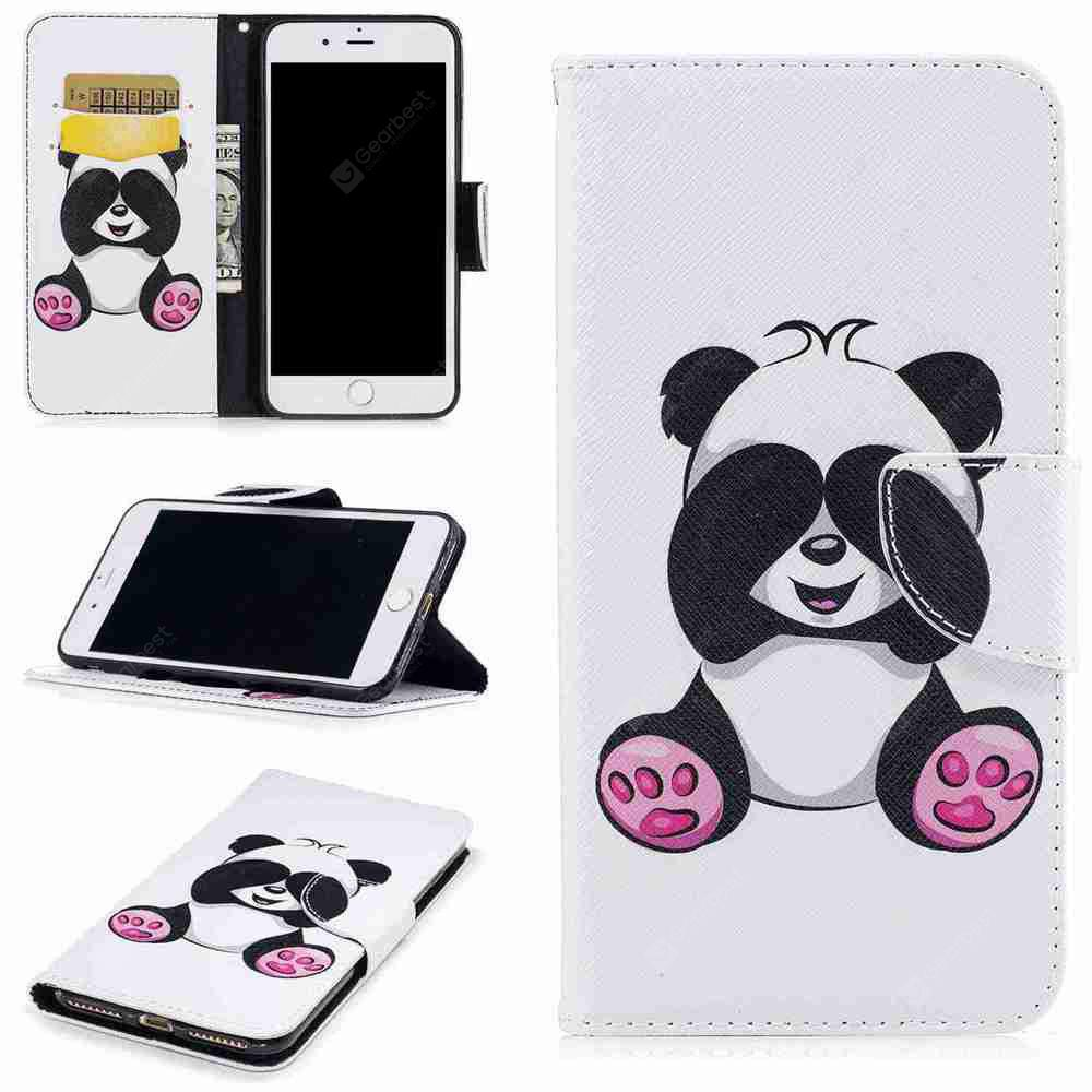 Giant Panda Painted Pu Phone Case for iPhone 6S Plus 6 Plus