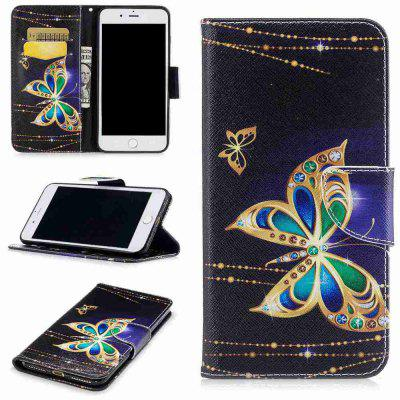Buy COLORMIX Big Butterfly Painted Pu Phone Case for iPhone 5S/Se for $4.28 in GearBest store