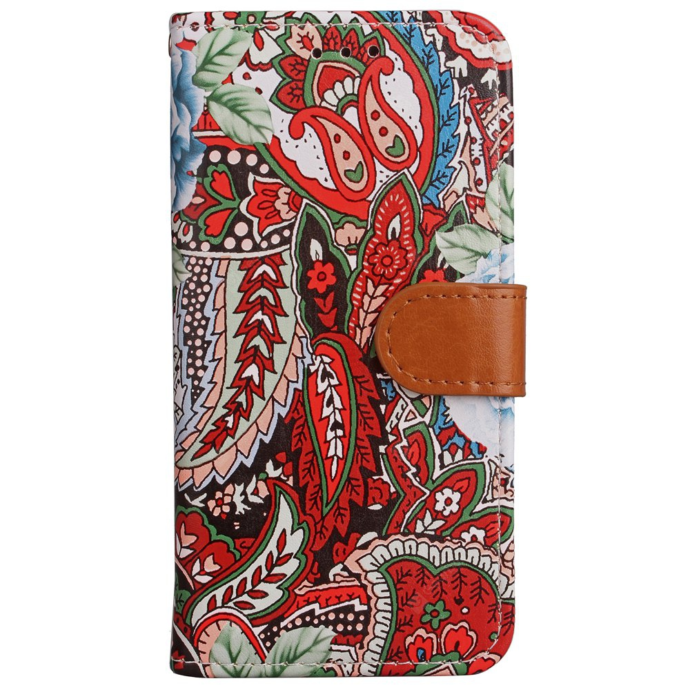 Yc Abstract The Flower Card Lanyard Pu Leather for iPhone X