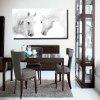 Colorful Modern Simple White Horse Black White Photography Frameless Painting 20 x 39 inch - COLORMIX