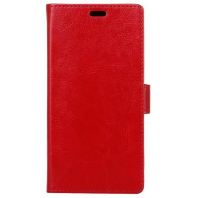 Buy RED Kazine Crazy Horse Texture Leather Wallet Case for Alcatel Idol 4 for $2.99 in GearBest store