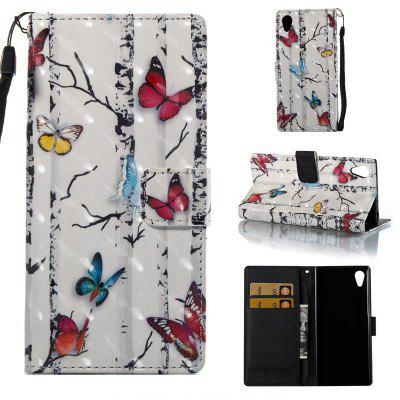Buy COLORMIX Butterflies 3D Painted Pu Phone Case for Sony Xa 2017 for $4.39 in GearBest store