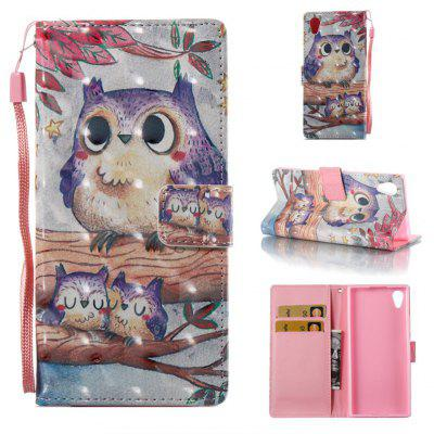Buy COLORMIX Purple Owl 3D Painted Pu Phone Case for Sony Xa 2017 for $5.06 in GearBest store