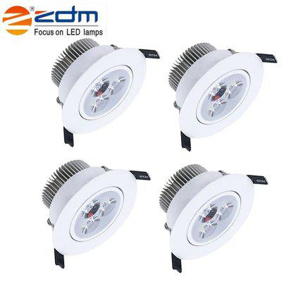 Zdm 4PCS 3X2W 400-450LM Dimmable White Led Ceiling Lamps Warm White/Cool White/Natural White Ac110/220v