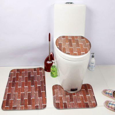 Western Style 3PCS Creativity printing Toilet Seat Cushion