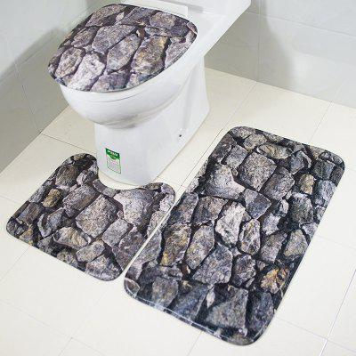 New Style 3PCS rock Printing Toilet Seat Cushion