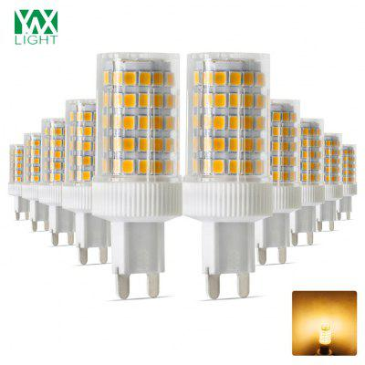 Buy WARM WHITE LIGHT 10PCS Ywxlight G9 2835SMD Dimmable Ceramic Led Light Crystal Chandelier Ac 200 240V for $38.05 in GearBest store