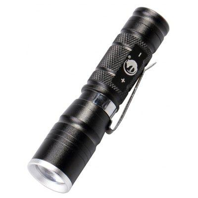 U`King 600LM 1 Mode Zoomable Mini Flashlight Torch with Clip