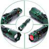U`King Xpe Q5 600LM 3 Mode Telescopic Zoomable Flashlight Torch - GREEN