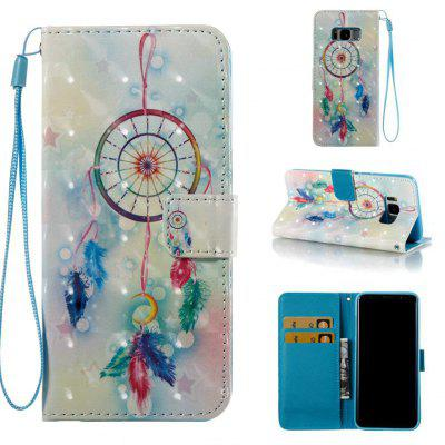 Buy COLORMIX Feather Wind Chimes 3D Painted Pu Phone Case for Samsung Galaxy S8 for $5.07 in GearBest store