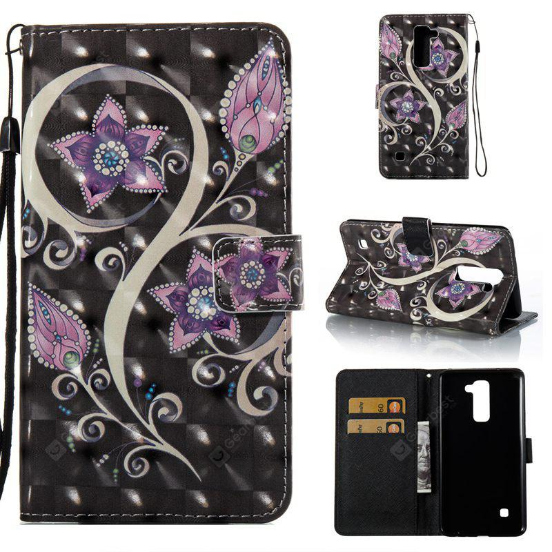 COLORMIX Peacock Flower 3D Painted Pu Phone Case for Lg Stylus2 Ls775