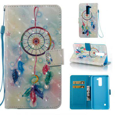 Buy COLORMIX Feather Wind Chimes 3D Painted Pu Phone Case for Lg Stylus2 Ls775 for $4.39 in GearBest store