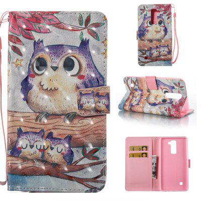 Buy COLORMIX Purple Owl 3D Painted Pu Phone Case for Lg Stylus2 Ls775 for $5.31 in GearBest store
