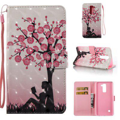 Plum Tree Girl 3D Painted Pu Phone Case for Lg Stylus2 Ls775