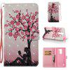 Plum Tree Girl 3D Painted Pu Phone Case for Lg Stylus2 Ls775 - COLORMIX