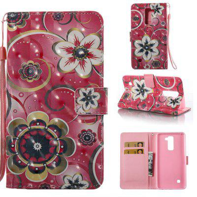 Tulip Flower 3D Painted Pu Phone Case for Lg Stylus2 Ls775