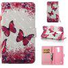 Rose Butterfly 3D Painted Pu Phone Case for Lg Stylus2 Ls775 - COLORMIX