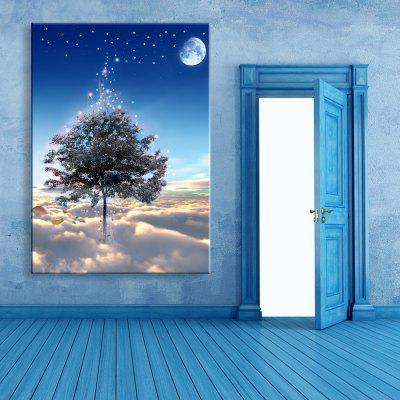 Buy LIGHT BLUE Yc Stretched Led Canvas Print Art The Tree Flash Effect Led Flashing Optical Fiber Print Set of 1 for $64.43 in GearBest store