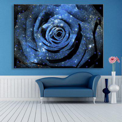 Buy DEEP BLUE Yc Stretched Led Canvas Print Art The Flower Flash Effect Led Flashing Optical Fiber Print for $54.59 in GearBest store