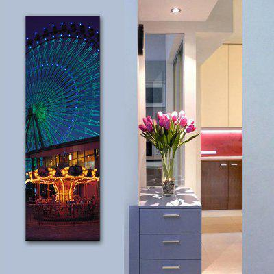 YC Stretched LED Canvas Print Art The Giant Ferris Wheel Flash Effect  Optical Fiber Print 1pc