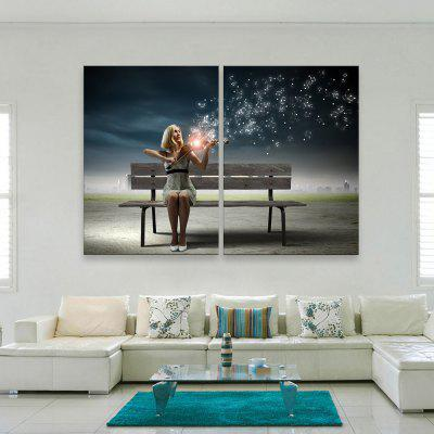 Buy STONE BLUE YC Stretched LED Canvas Print Art The Magic Violin Flash Effect Optical Fiber Print 2pcs for $125.66 in GearBest store