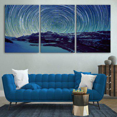 Buy STONE BLUE Yc Stretched Led Canvas Print Art The Sound Wave Flash Effect Led Flashing Optical Fiber Print Set of 3 for $145.97 in GearBest store