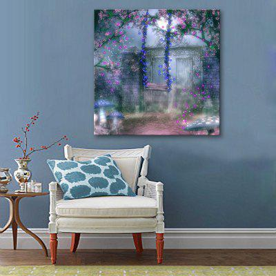 Buy BLUE + PURPLE Yc Stretched Led Canvas Print Art The Swing Trapeze Flash Effect Led Flashing Optical Fiber Print Set of 1 for $54.59 in GearBest store