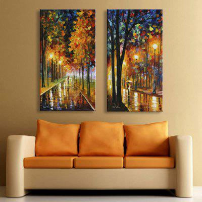 Buy LIMEADE Yc Stretched Led Canvas Print Art The Path In Woodland Flash Effect Led Flashing Optical Fiber Print Set of 2 for $132.92 in GearBest store