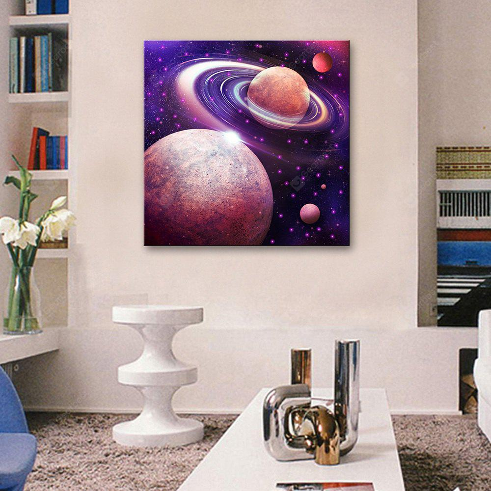 YC Stretched Led Canvas Print Art Galactic System Flash Effect Optical  Fiber Painting