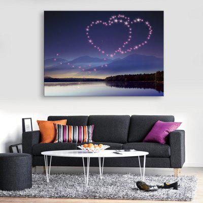 Buy BLUE + PURPLE YC Stretched LED Canvas Print Art The Have Mutual Affinity Flash Effect Optical Fiber Print 1pc for $68.77 in GearBest store