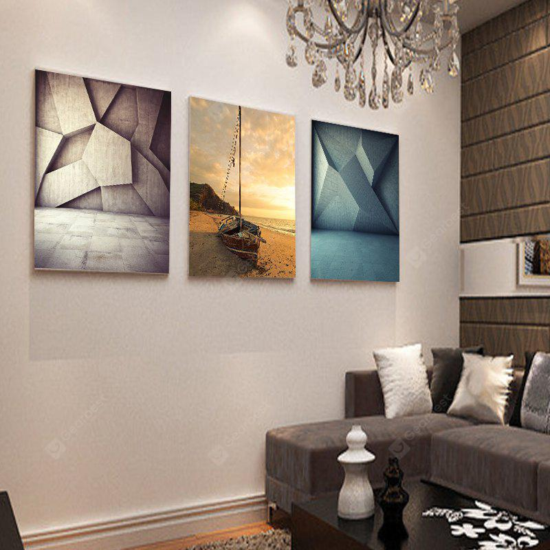 colourful living room sofa decorative painting abstract frameless triptych 12 x 16 inch - Colourful Living Room