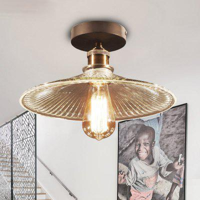 Buy TRANSPARENT Lanshi Glass Ceiling Art Retro Lamp for $54.52 in GearBest store