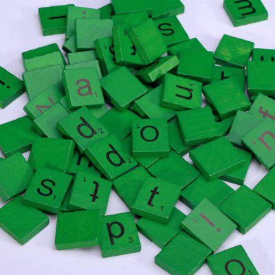 100pcs Lowercase Wooden Scrabble Tiles Crafts Wood Alphabets for Kids