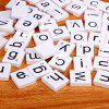 100pcs Lowercase Wooden Scrabble Tiles Crafts Wood Alphabets for Kids - WHITE