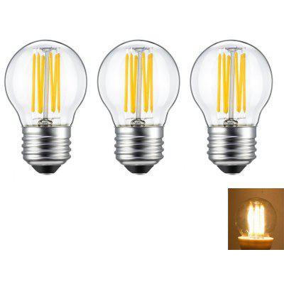 Supli 3PCS 6W E26 / E27 LED Filament Bulbs G45 6 Cob 560 LM Warm White AC 220V - 240V