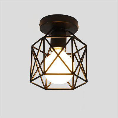 Brightness 16CM Vintage Industrial Mini Painting Metal Flush Mount Ceiling Light Fixture for Living Room/Bedroom/Dining Room/Kitchen