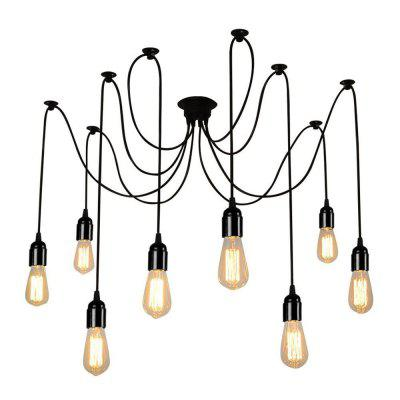 Brightness Vintage Multiple Heads diy pendant Lights Living Room Dining Room Chandelier