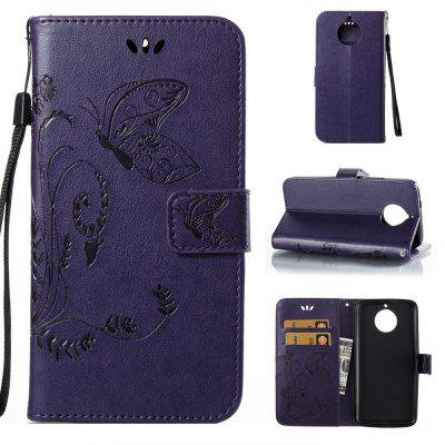 Buy PURPLE Wkae Flowers Embossing Pattern PU Leather Flip Stand Case Cover for MOTO G6 for $5.78 in GearBest store