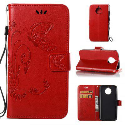 Buy RED Wkae Flowers Embossing Pattern PU Leather Flip Stand Case Cover for MOTO G6 for $5.78 in GearBest store