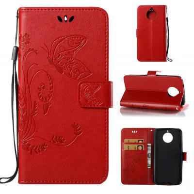 Buy RED Wkae Flowers Embossing Pattern PU Leather Flip Stand Case Cover for MOTO G6 Plus for $5.78 in GearBest store