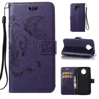 Buy PURPLE Wkae Flowers Embossing Pattern PU Leather Flip Stand Case Cover for MOTO G6 Plus for $5.78 in GearBest store
