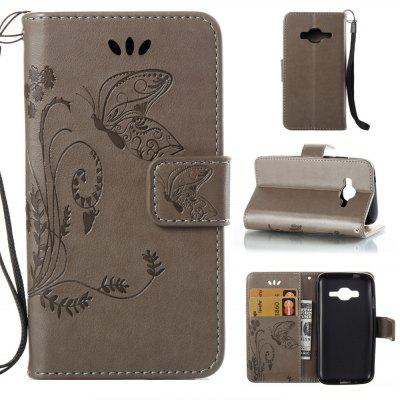 Wkae Flowers Embossing Pattern PU Leather Flip Stand Case Cover for Samsung Galaxy J1 mini Prime